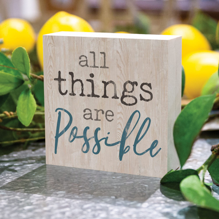 All things are possible [1]