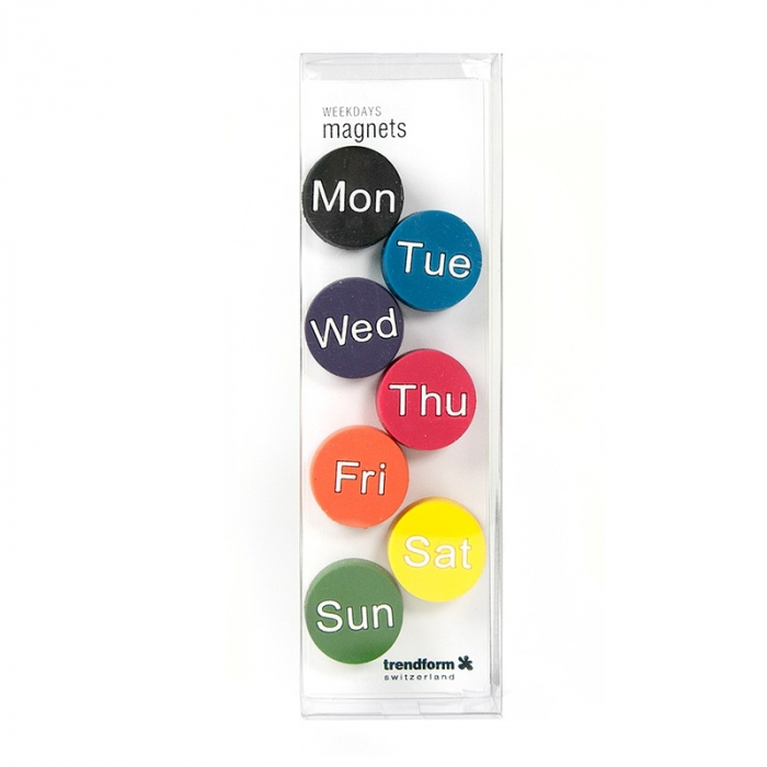 Magnet - zilele saptamanii - WEEKDAYS (7 buc/set) 1