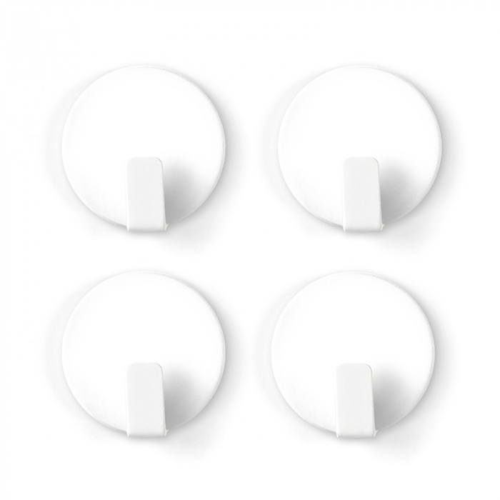 Magnet utilitar - HOOK SOLID WHITE (4 buc/set) 0