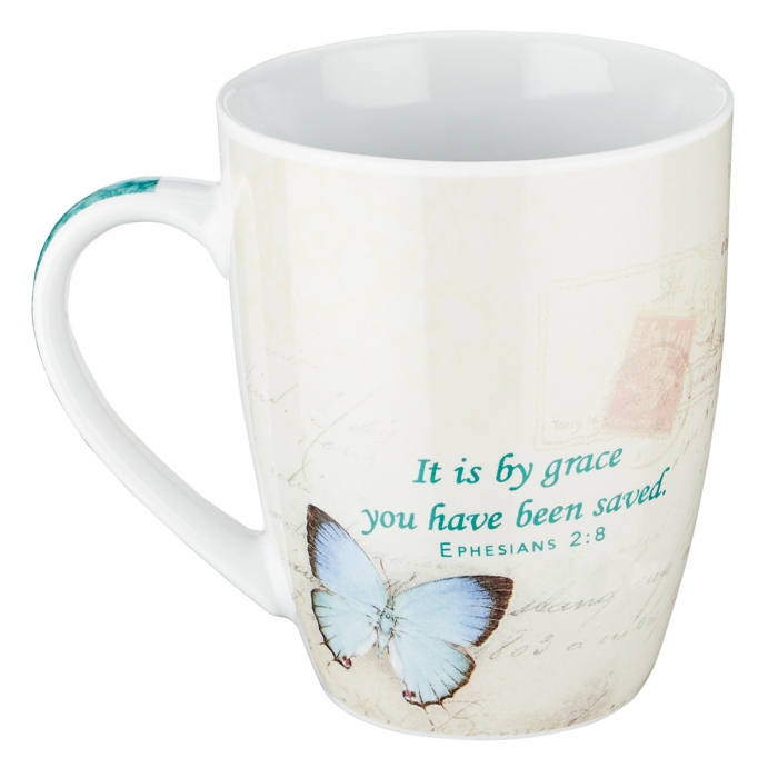 Cana - Butterfly Grace in blue - Ephesians 2:8