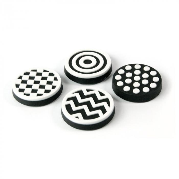 Magnet - alb si negru - BLACK&WHITE (4 buc/set) 0