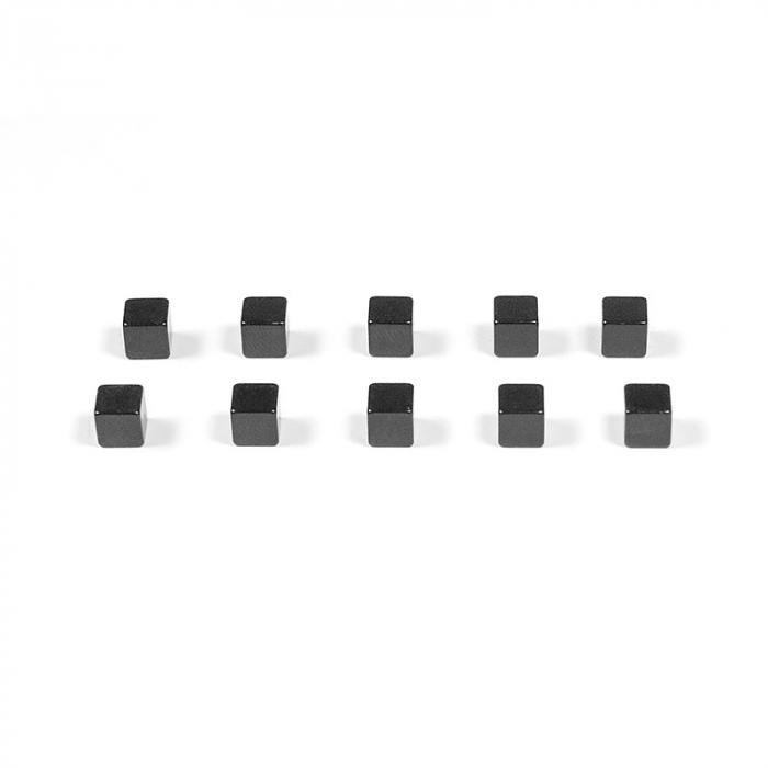 Magnet utilitar - KUBIQ BLACK (10 buc/set) 0