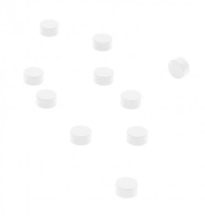Magnet - STEELY WHITE (10 buc/set) 0