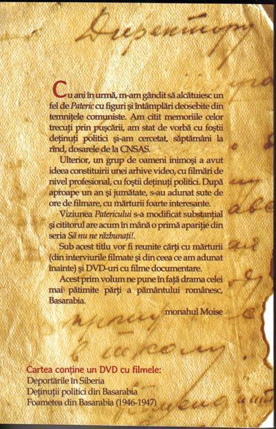 Sa nu ne razbunati! Marturii despre suferintele romanilor din Basarabia 1