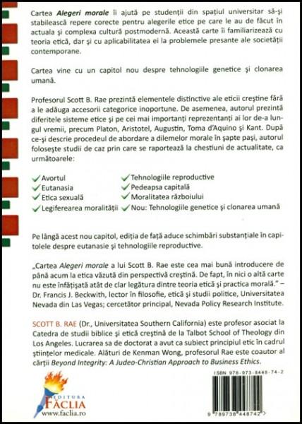 Alegeri morale - O introducere in ETICA 1