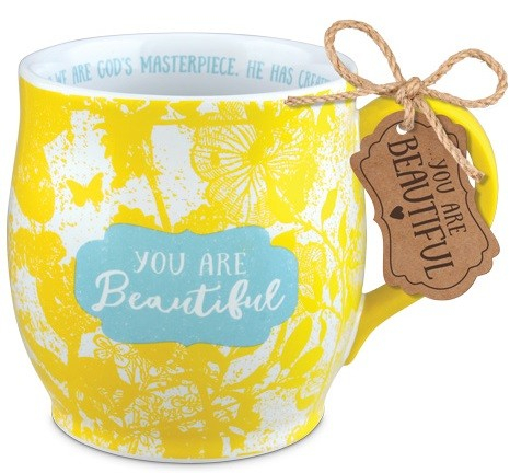 Cana din ceramica - You are beautiful - Efeseni 2:10 0