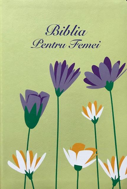 Biblia pentru femei Verde Floral mica [0]