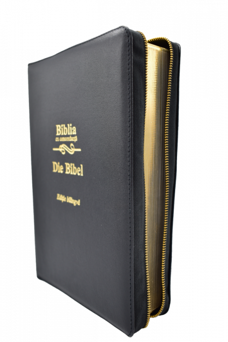 Biblie - editie bilingva romana-germana - neagra, PF - cu concordanta 1