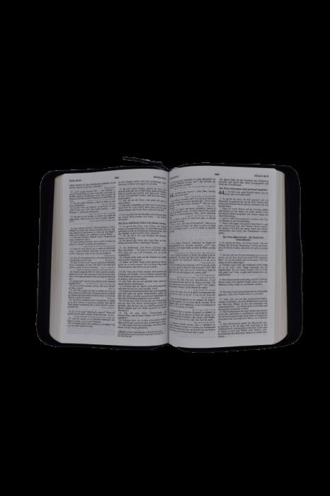 Biblie - editie bilingva romana-germana - neagra, PF - cu concordanta 2