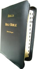 Biblia. Holy Bible. Editie bilingva romana-engleza - cu fermoar 0
