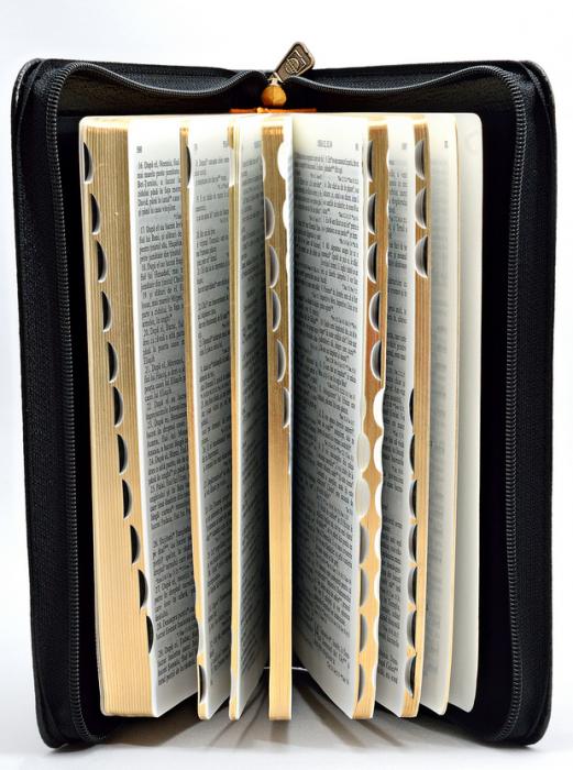Biblie de lux, medie, coperta piele, fermoar, margini aurii 1
