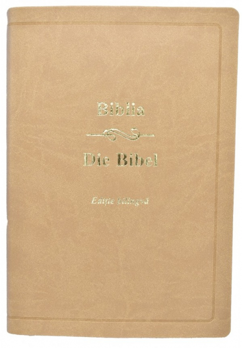 Biblia - editie bilingva romana-germana - crem 0