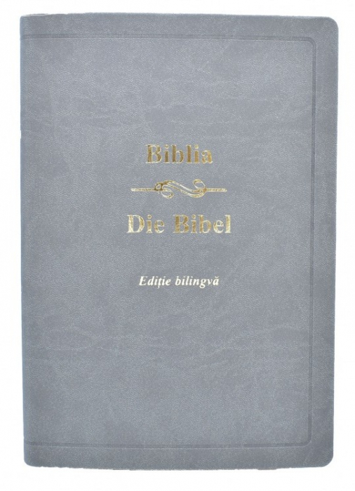 Biblia - editie bilingva romana-germana - gri 0