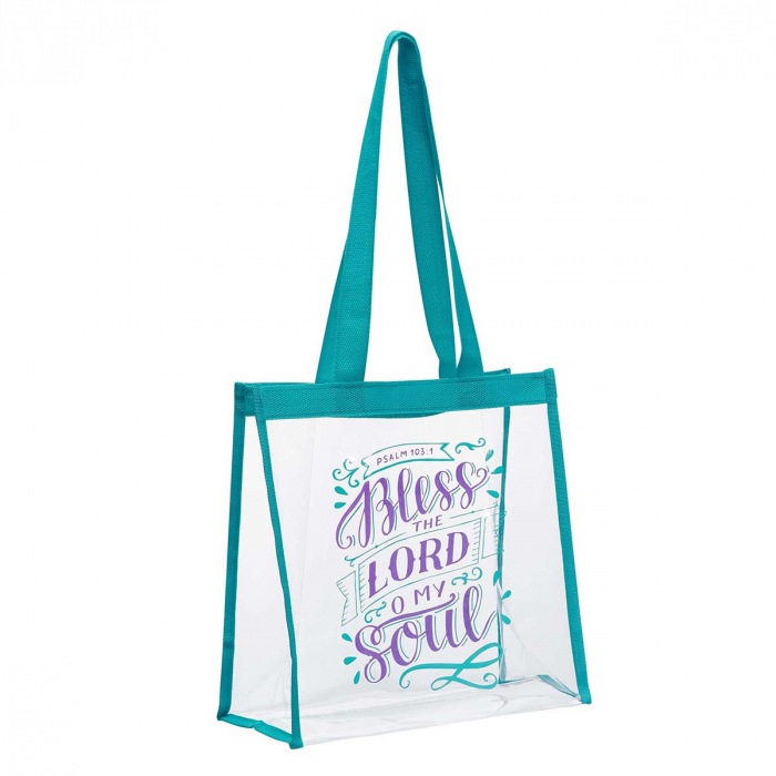 Bless The Lord Clear Tote Bag - Psalm 10 [1]