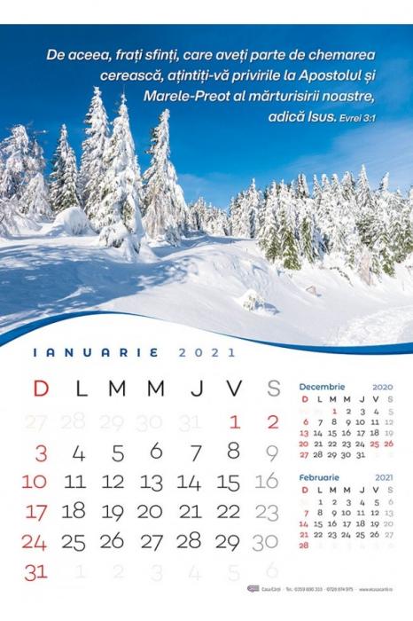 Calendar de perete 2021 - format mare A3 0