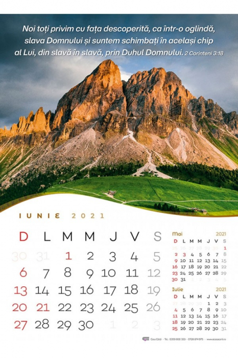 Calendar de perete 2021 - format mare A3 1
