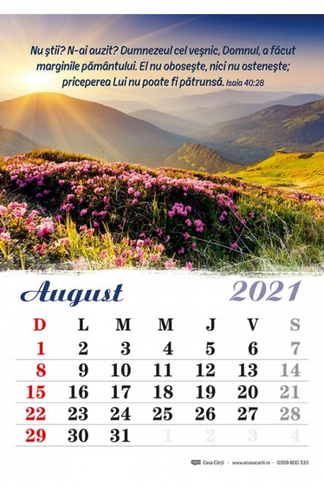 Calendar de perete 2021 - format A4 3