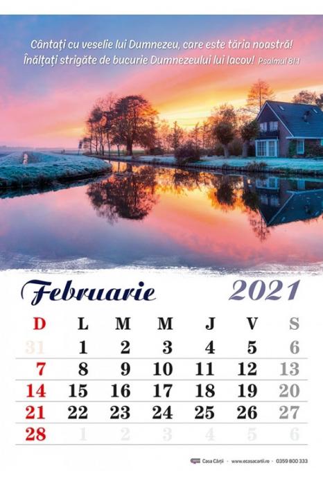 Calendar de perete 2021 - format A4 1