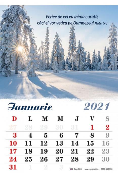 Calendar de perete 2021 - format A4 0