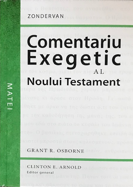 Comentariu exegetic al Noului Testament. Matei [0]