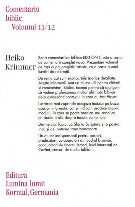 Epistolele catre corinteni, comentariu biblic, vol. 11/12 1