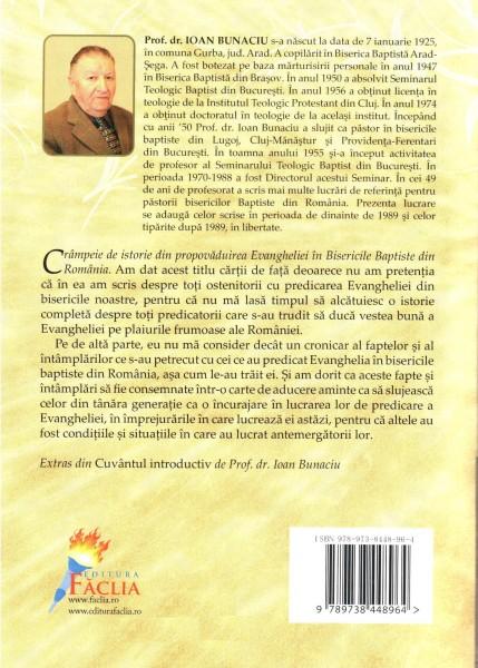 Crampeie de istorie din propovaduirea Evangheliei in Bisericile Baptiste din Romania 1874-1984 1