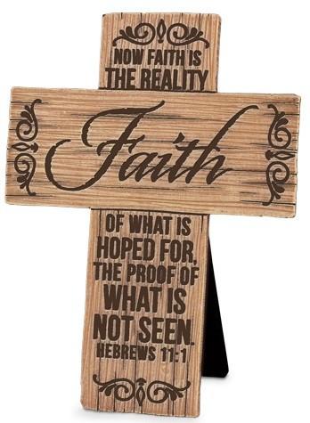 Cruce - Faith (Wood Grain Crosses) 0