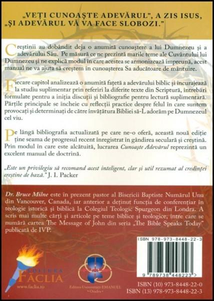 Cunoaste Adevarul. Manual de doctrina crestina 1