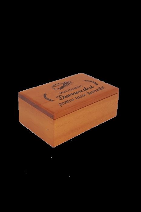 Cutiuță din lemn - Mulțumește Domnului pentru toate lucrurile! - BEP4-07R 0