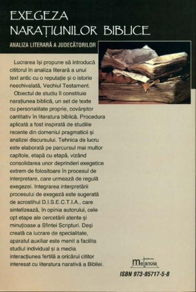 Exegeza naratiunilor biblice. Analiza literara a Judecatorilor 1