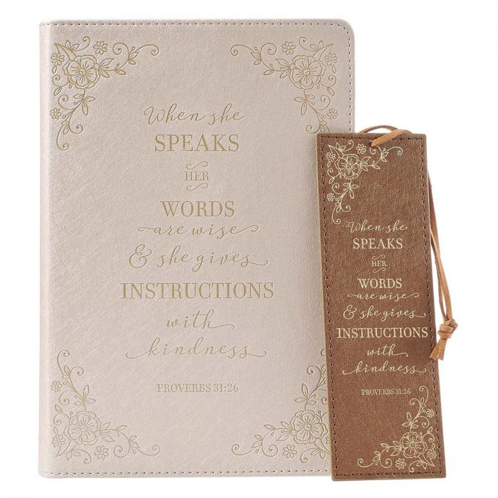 When she speaks - Journal & Bookmark [0]