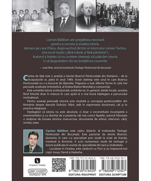 Istoria Bisericii Penticostale din Romania (1922-1989). Institutie si harisme 1