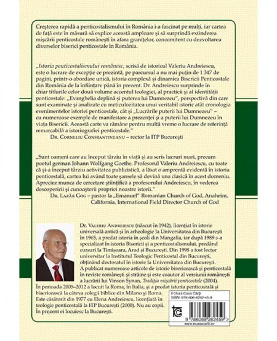 Istoria penticostalismului romanesc. Volumul 2. Lucrarile puterii lui Dumnezeu 1