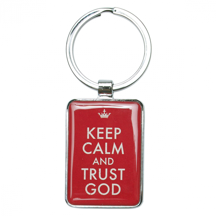 Keep calm and trust God - Red [0]
