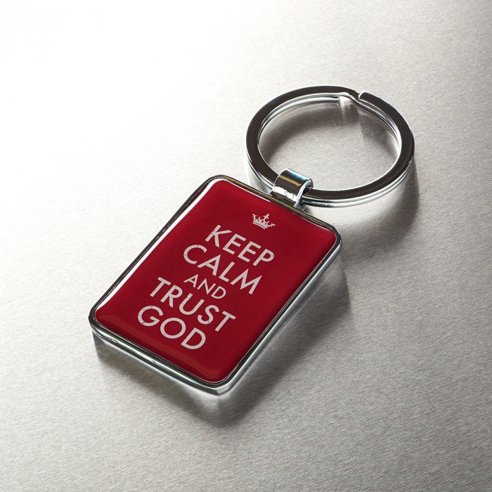 Keep calm and trust God - Red [2]