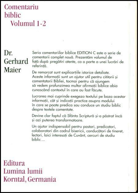 Evanghelia dupa Matei, comentariu biblic, vol. 1/2. 1