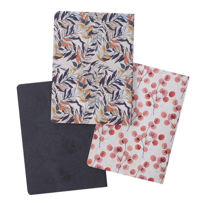 Through Christ Navy Floral Large Notebook [3]