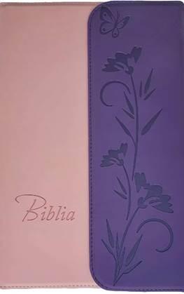 Biblia Noua Traducere Romaneasca - NTR roz-mov cu clapa magnetica [0]