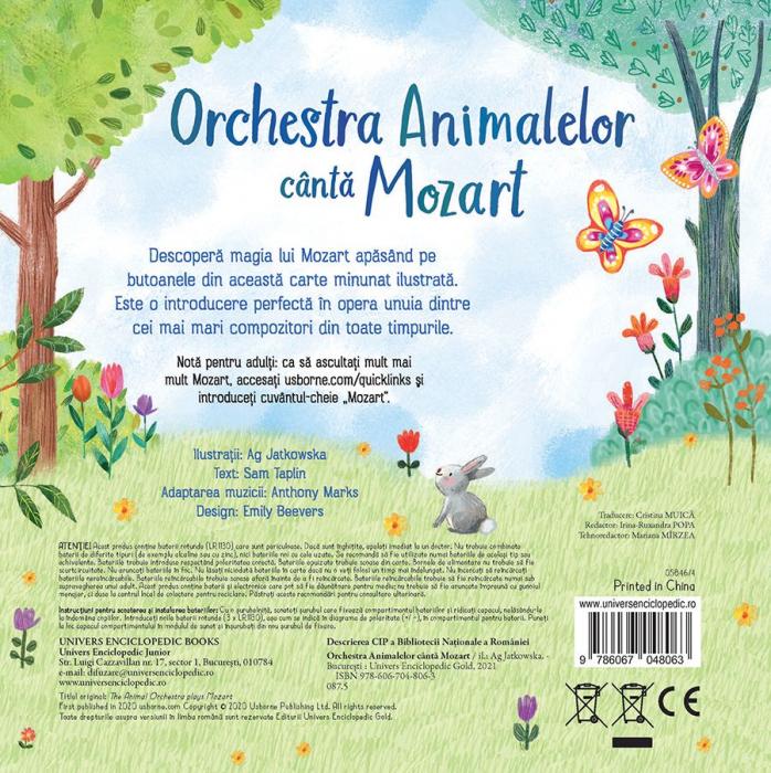Orchestra Animalelor canta Mozart (Usborne) [5]