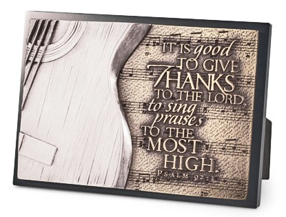 Placa mica in relief - Guitar - It Is Good To Give Thanks 0