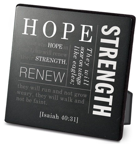 Placa neagra Simple faith 2 - Hope - Isaiah 40:31 0