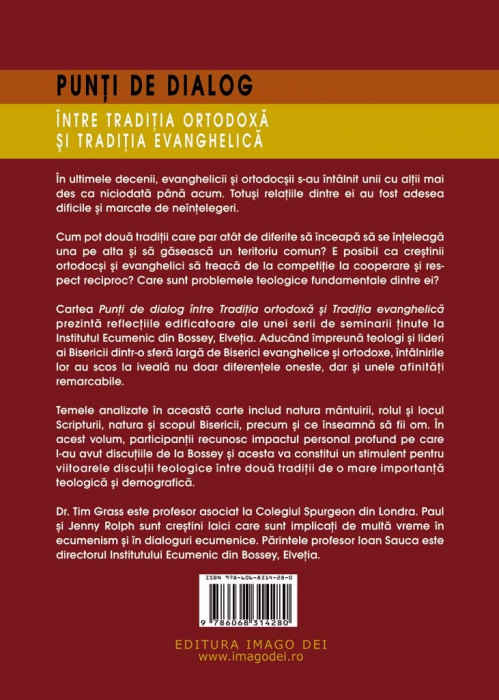 Punti de dialog intre Traditia Ortodoxa si Traditia Evanghelica 1