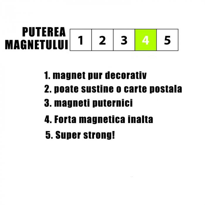 Magnet - alb - WHITE (4 buc/set) 1