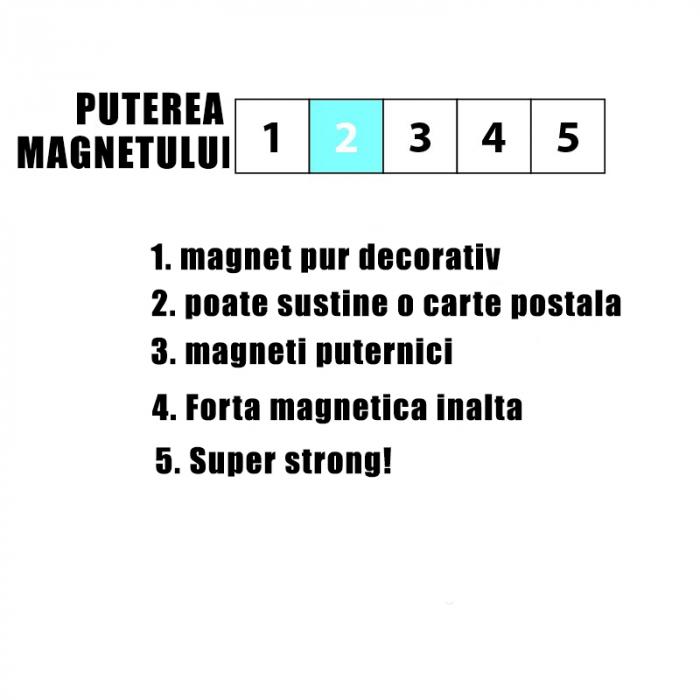 Magnet - alb si negru - BLACK&WHITE (4 buc/set) 1