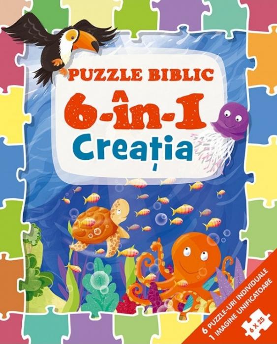 Puzzle biblic 6 în 1 - Creatia 0
