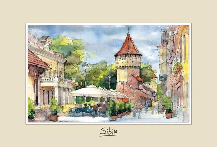 Tablou mic Sibiu 1 - 10 x 15 cm 0