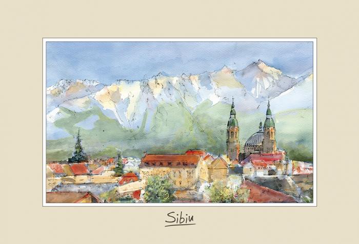 Tablou mic Sibiu 2 - 10 x 15 cm 0