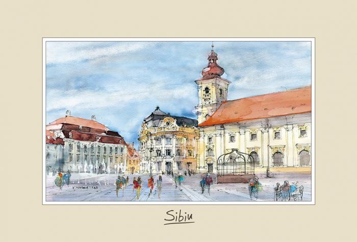 Tablou mic Sibiu 3 - 10 x 15 cm 0