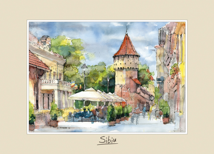 Tablou mediu Sibiu 1 - 15 x 21 cm 0