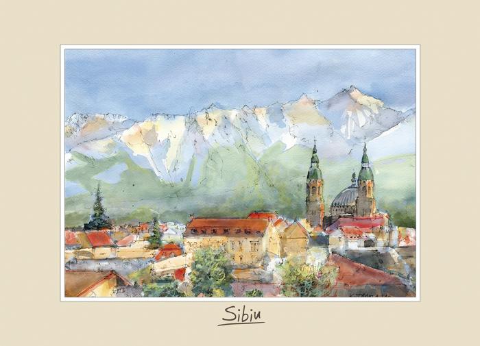 Tablou mediu Sibiu 2 - 15 x 21 cm 0